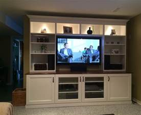 white ikea besta entertainment center with recessed lighting and shelves also cabinet decofurnish