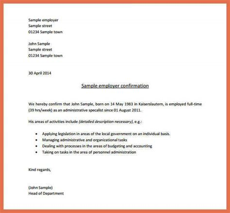 Employment Verification Letter Pdf Verification Of Employment Letter Bio Exle