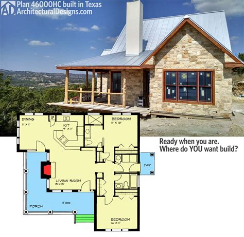 country cabin floor plans plan 46000hc hill country classic country houses porch