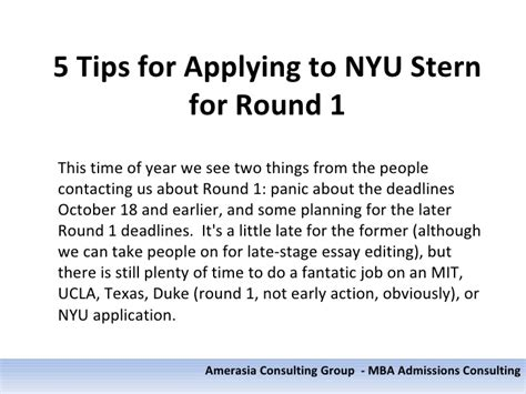 Nyu Mba Start Date by 5 Tips For Applying To Nyu For 1