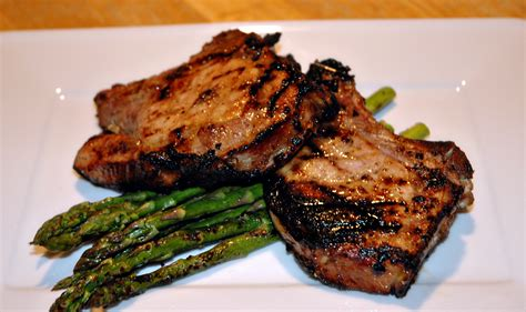 german mustard marinated bbq pork chops sportsglutton
