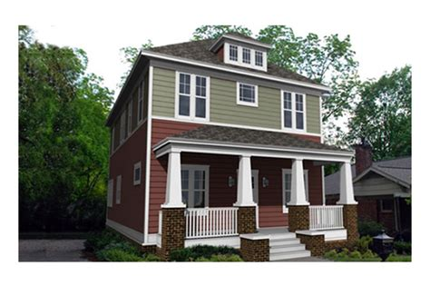 American Foursquare House Plans craftsman style house plan 4 beds 3 5 baths 2520 sq ft