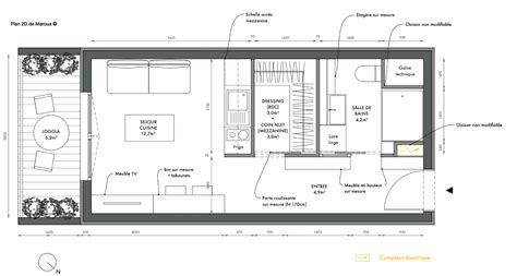 Amenagement Appartement 25 M2 by Beautiful Plan Amenagement Studio 25m2 Pictures House