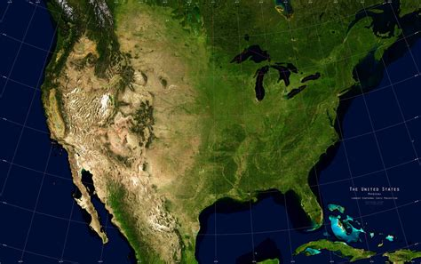 satellite maps usa united states satellite image giclee print physical