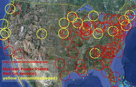 nuclear power plant map usa u s nuclear power plants safe distance