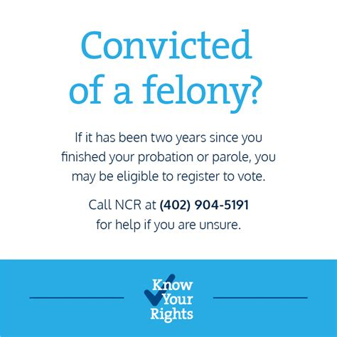 Can You Vote With A Felony On Your Record The History Of Nebraska Voting Rights For Former Felons Nebraska Appleseed