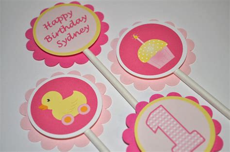 cupcake rubber st 12 s 1st birthday cupcake toppers cupcake