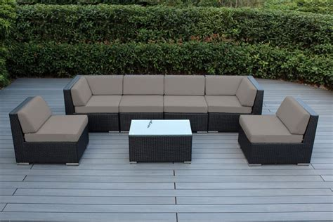 Sunbrella Sectional Sofa Ohana Collection 7pc Sunbrella Outdoor Sectional Sofa Set