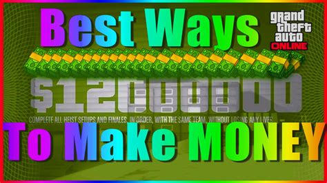 Gta 5 Best Ways To Make Money Online - gta 5 online best ways to quot make money quot 1 28 best fast gta v youtube