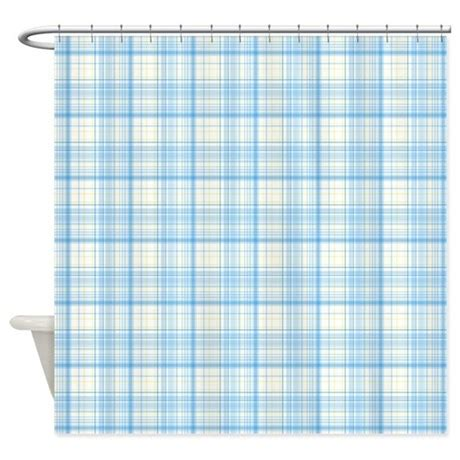 blue plaid shower curtain blue plaid shower curtain by colorfulpatterns