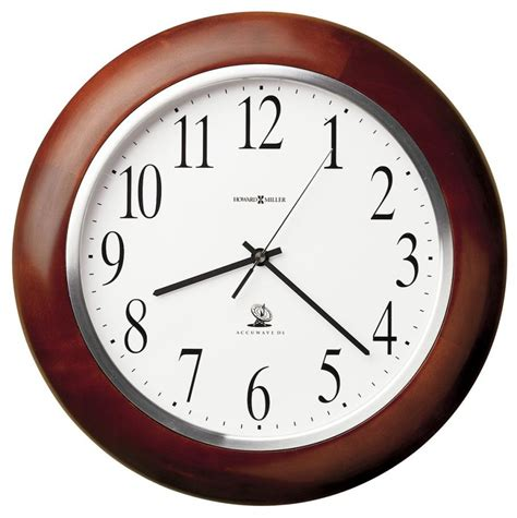 wall clock clockway 13 75in howard miller atomic wooden wall clock