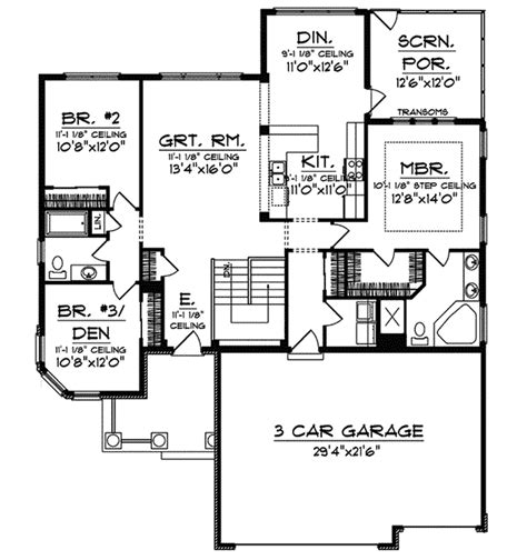belcour arts  crafts home plan   house plans