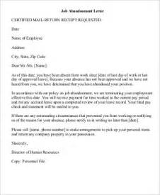 Termination Of Employment Letter Abandonment 8 Sle Abandonment Letter Exles In Word Pdf