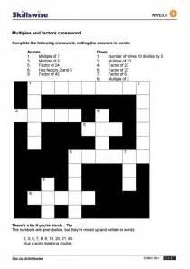 multiples and factors crossword