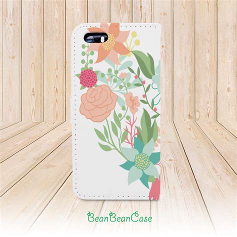 Original Wallet Sui Flower flower wallet flip cover monogram custom personalized for iphone x 7 6s 6 5 5s 5c for
