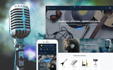 shopify themes music music store shopify theme