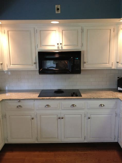 paint for cabinets kitchen mounted microwave shelf under cabinet painting with white chalk paint white ceramic backsplash