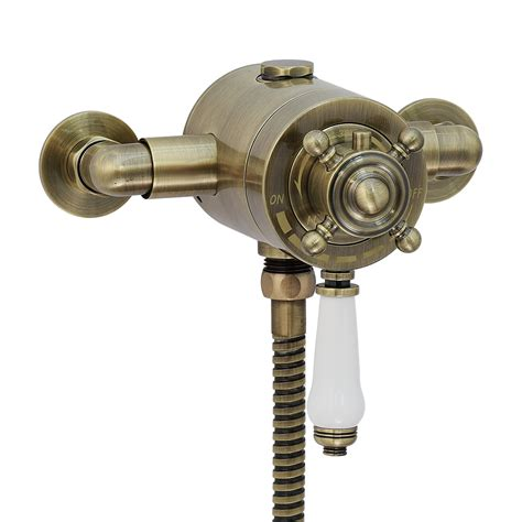 thermostatic shower bath valve enki traditional thermostatic shower valve concentric bronze exposed vintage ebay