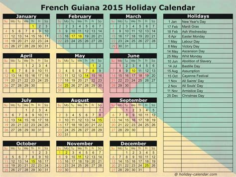 printable calendar 2015 in french french guiana 2015 2016 holiday calendar