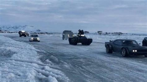 fast and furious 8 iceland photos explosions on lake m 253 vatn during filming of fast 8