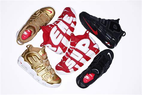 Nike Air Up Tempo X Supreme Blackout supreme x nike air more uptempo black le site de la sneaker