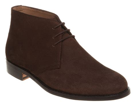 Galerry mens brown suede boots