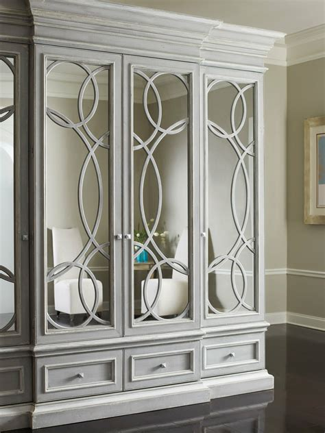 east hampton displaymedia cabinet  mirrored doors