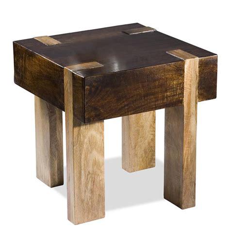 chunky wood  table decoist