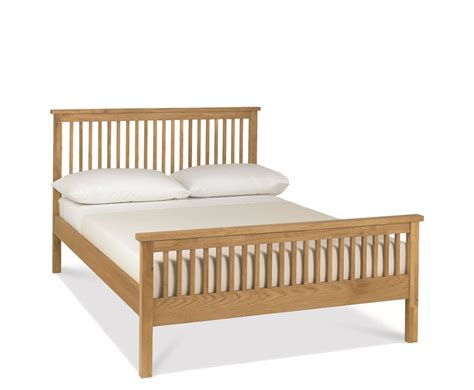 wooden bed atlanta oak 4ft slatted wooden bed just 4ft beds