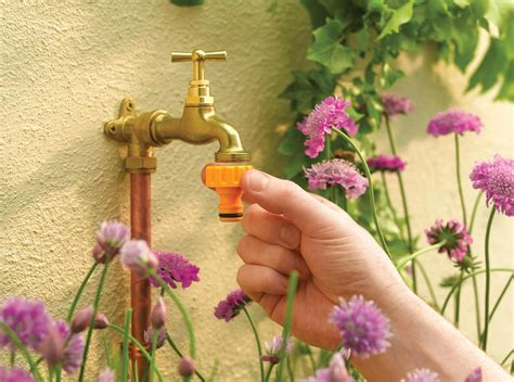 Indoor Faucet To Garden Hose Connector - tap connectors hozelock