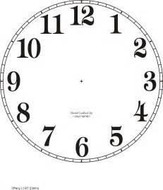 clockface template free clock dials