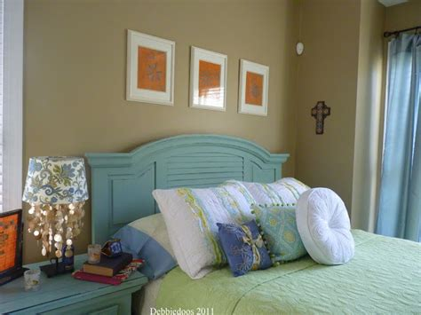 Duck Egg Blue Headboard by Chalk Paint Projects With Sloan Debbiedoos