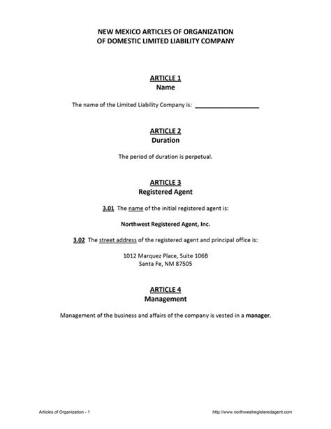 articles of organization template sle llc articles of organization nebraska