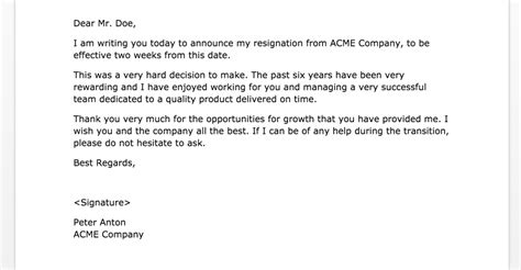Resignation Letter 2 Weeks Template Two Weeks Notice Letters 2 Sles