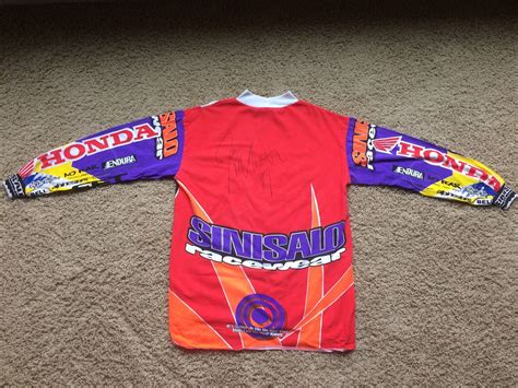signed motocross jersey for trade 1994 sinisalo mc signed honda jersey old