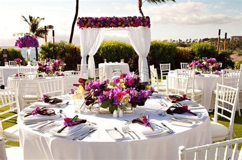 Hawaiian Centerpieces for Wedding Reception   Home Wedding