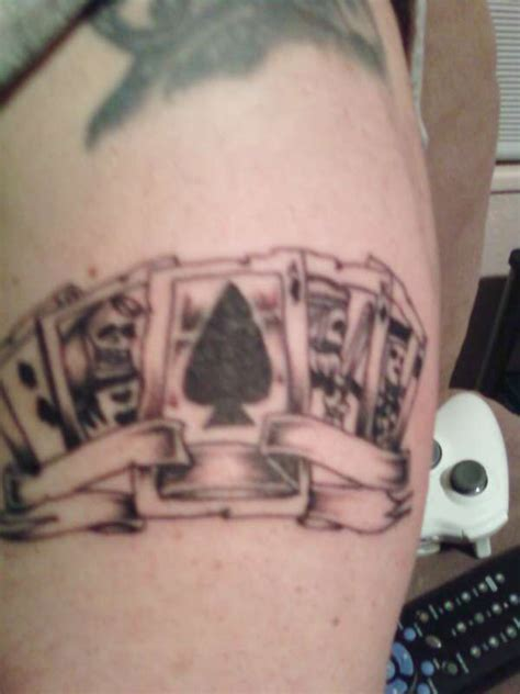 tattoo ink from playing cards playing cards tattoo