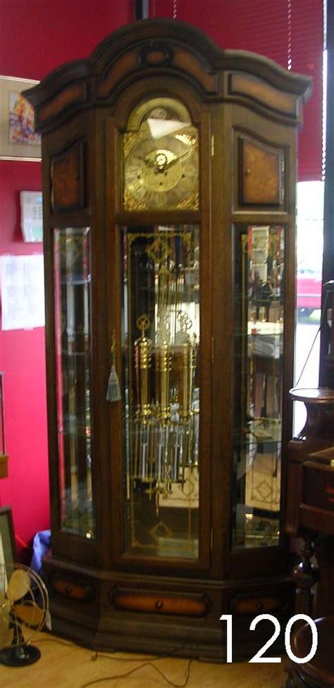 grandfather clock curio cabinet 30120 cambridge grandfather clock w wood curio cabinet