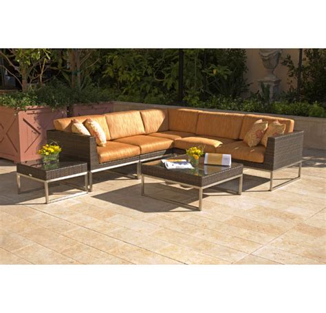 36 Inch Square Coffee Table Caluco Mirabella 36 Inch Square Modern Wicker Coffee Table With Stainless Steel And Glass Top