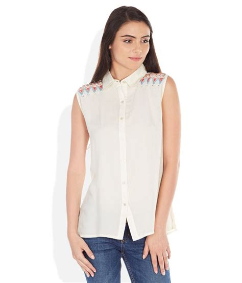 collar top white buy madame white regular collar top at best prices