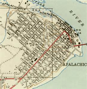 map of apalachicola 1943 florida
