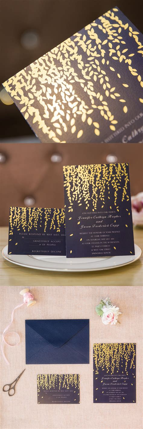 Gold Wedding Invitation Cards by Elegantweddinginvites