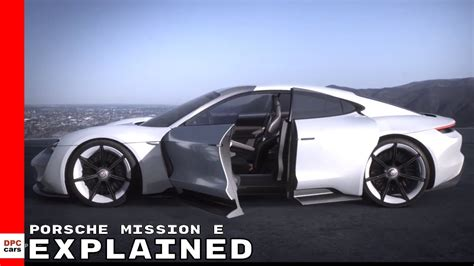 electric porsche supercar electric porsche mission e supercar explained
