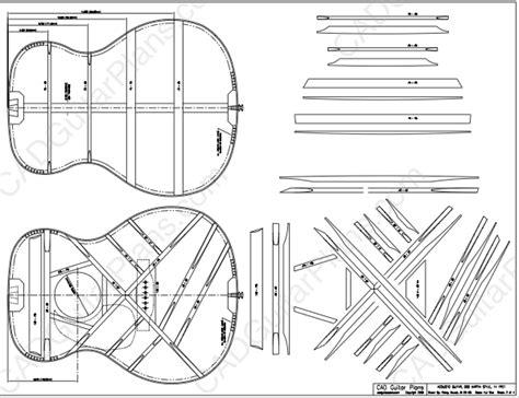 electric acoustic guitar plans pdf 000 martin 14 fret acoustic guitar plan cad guitar plans