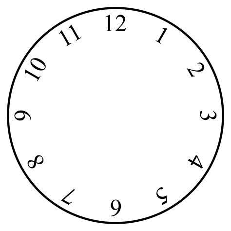 clock templates free clock template clipart best