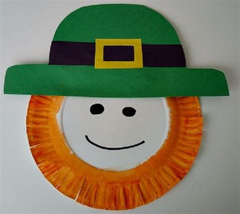Leprechaun Paper Craft - happy st patricks day ideas pink lover