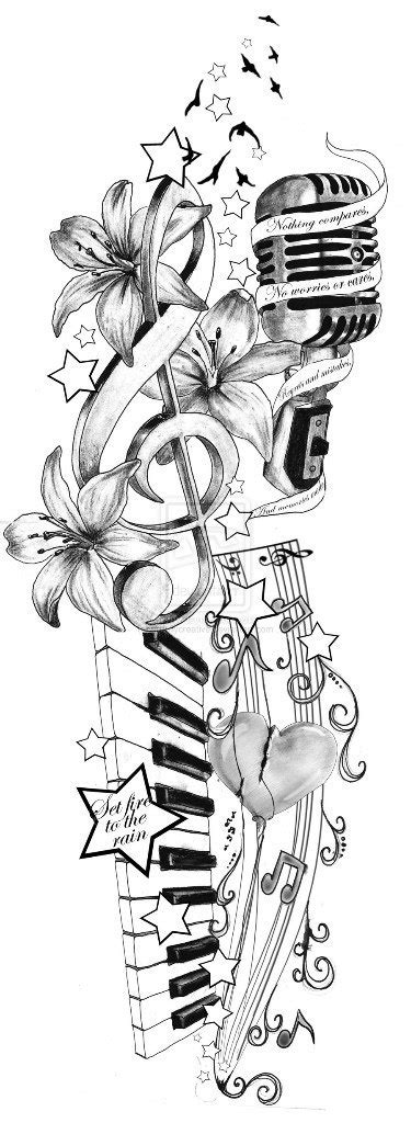 music tattoo sleeve design sleeve ideas best designs