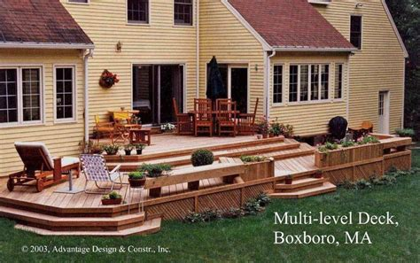 Images Of Backyard Decks by Wood Deck Designs Wood Deck Planters Woodworking