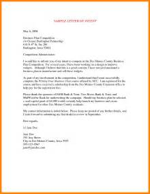 Letter Of Intent To Resign Exle 11 Business Letter Of Intent Beverage Carts