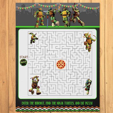 printable turtle maze teenage mutant ninja turtles maze activity sheet chalkboard